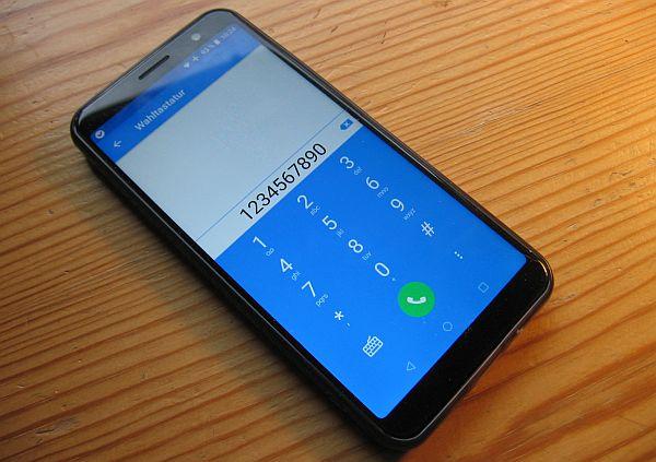 Das Softphone Sipnetic auf einem Android-Smartphone